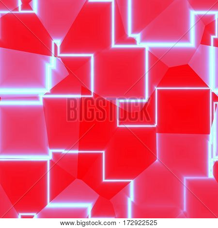 Abstract digital seamless tileable pink red zig zag line pattern