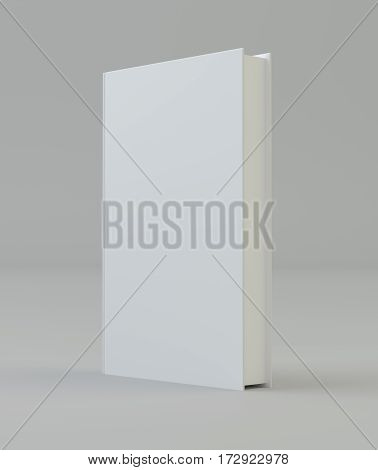 Blank vertical book cover mockcup template standing. 3d rendering