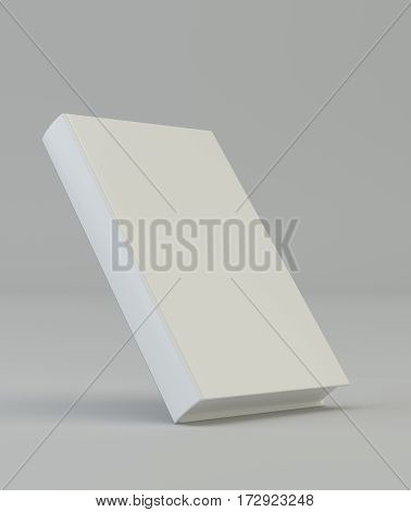 Blank vertical book cover template. 3d rendering