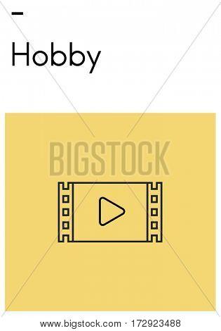 Relax Enjoyment Leisure Hobby Movie Icon