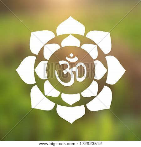 Vector om symbol vector photo free trial bigstock vector om symbol hindu in lotus flower mandala illustration mightylinksfo