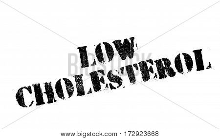 Low Cholesterol rubber stamp. Grunge design with dust scratches. Effects can be easily removed for a clean, crisp look. Color is easily changed.