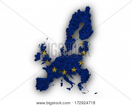 Map And Flag Of The Eu On Poppy Seeds
