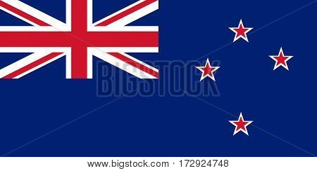 Colored Flag Of New Zealand