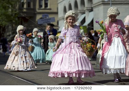 Children Parade To Sechselauten, Zurich, Switzerland