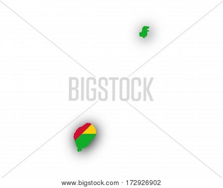 Map And Flag Of Sao Tome And Principe
