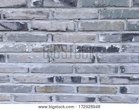 Background of old bricks wall grey wallpaper grunge texture.