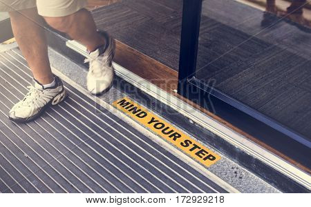 Mind Step Surface Accident Caution Gap Stumble