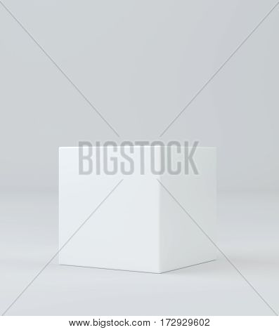 Empty pedestal. Simple template for an advertisement or web design. 3d rendering