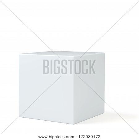 Pedestal for display. Platform for design. Realistic 3D rendering empty podium