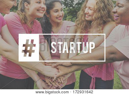 Start up Team Building Teamwork Women