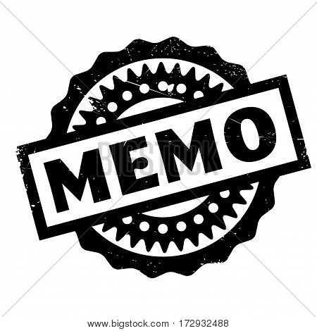 Memo rubber stamp. Grunge design with dust scratches. Effects can be easily removed for a clean, crisp look. Color is easily changed.
