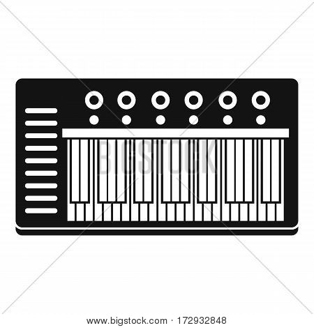 Electronic synth icon. Simple illustration of electronic synth vector icon for web