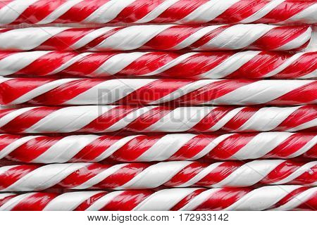 Festive candy canes background