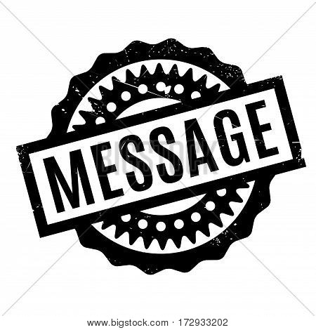 Message rubber stamp. Grunge design with dust scratches. Effects can be easily removed for a clean, crisp look. Color is easily changed.