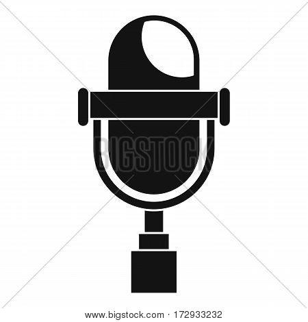 Retro microphone icon. Simple illustration of retro microphone vector icon for web