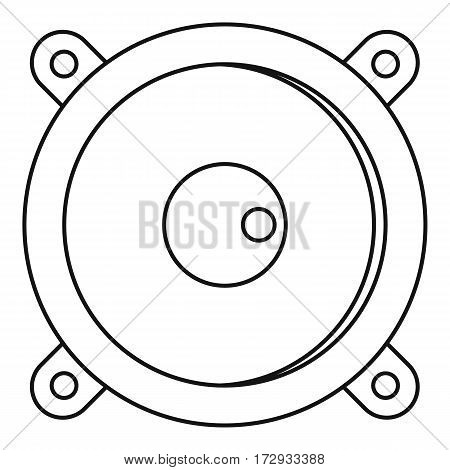 Sound speaker dynamic icon. Outline illustration of sound speaker dynamic vector icon for web