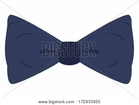 Isolated blue bowtie on a white background, Vector illustration