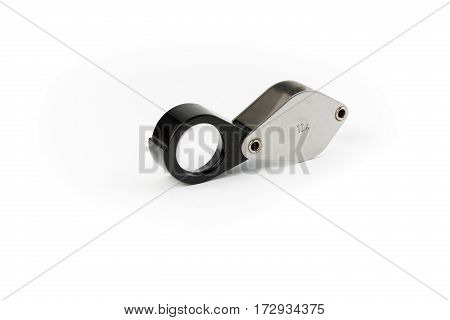 Magnifying Glass Isolated on a White Background. Studio Shot