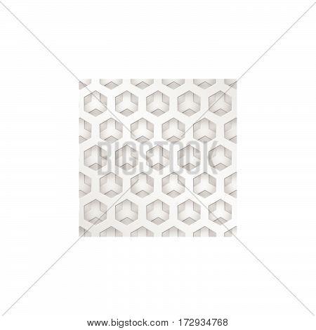 Modern Background Metal Texture, Hexagonal Grid Shape