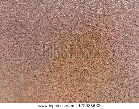 Rusty sheet metal. Graphic background of relief. Brown color