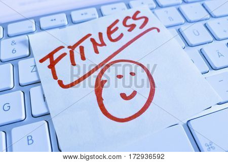 note on computer keyboard: fitness