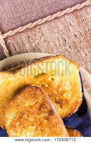 French Toast Closeup With Copy Space