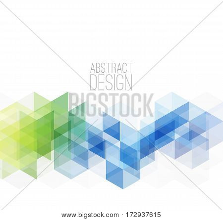 Vector Abstract retro geometric background. Template brochure. Science or technology design