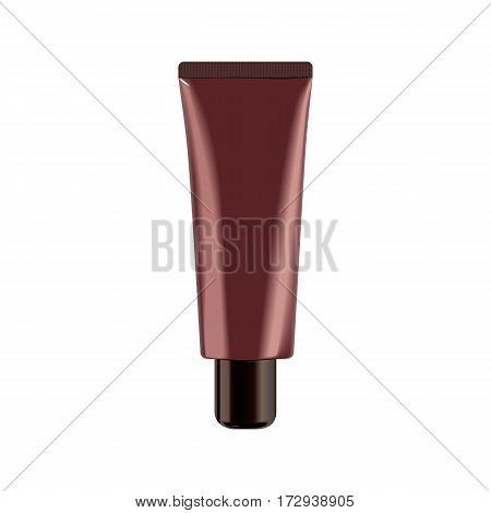 Realistic Cosmetic bottle. Container for cream, foams and other cosmetics. Template For Mock up Your Design. vector illustration. 3D