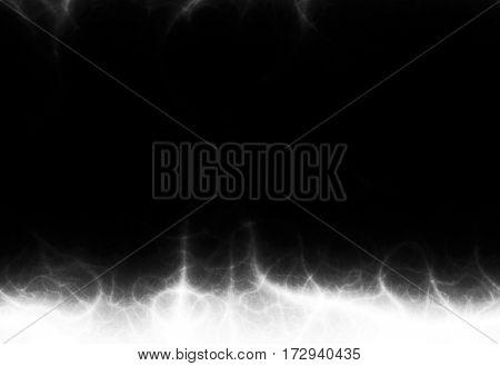 Black and white mystical illuminated magic background space