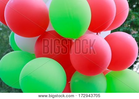 Bunch of colorful balloons. Holidays and festivals