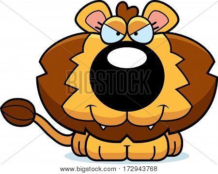 Cartoon Sly Lion Cub