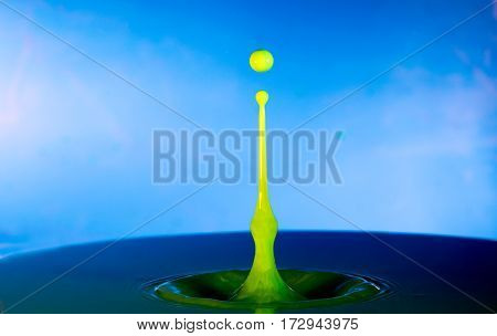 Collision Of Two Drops On A Surface Of Water