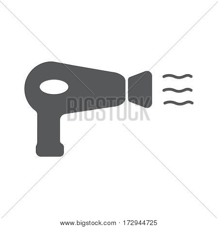 Hairdryer sign flat icon. Hair drying symbol. Vector illustration EPS10