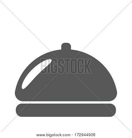 Restaurant cloche flat icon vector illustration eps10