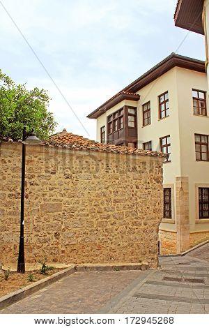 Narrow Street in the centre of Antalya, Turkey