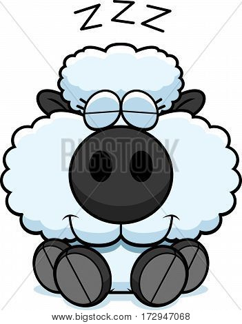 Cartoon Lamb Napping