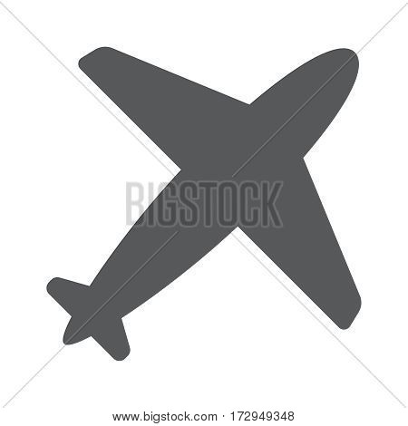 Airplane flight tickets air fly travel takeoff silhouette element. Plane symbol. Travel icon. Flat design. EPS 10.