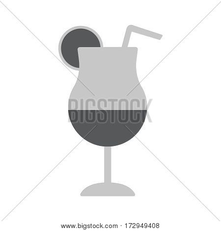 Cocktail icon flat vector Illustration. Cocktail drink.
