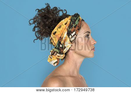 Caucasian Woman Side View