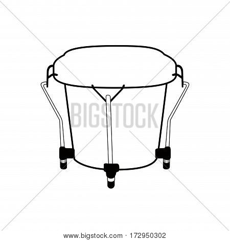 Isolated Bongo Drum Outline
