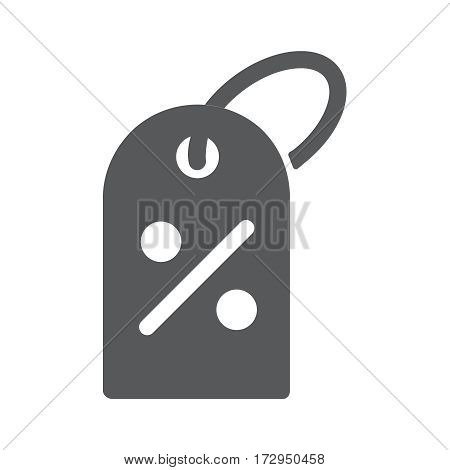 Percent Off Sale tag icon, icon on gray Vector illustration for web site, Simple flat metro design style. Icon. Flat design style