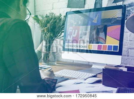 Gradient Color Effect Photo Fashion Designer Job