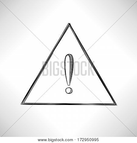 Exclamation Mark. Sign Isolated Over White Background