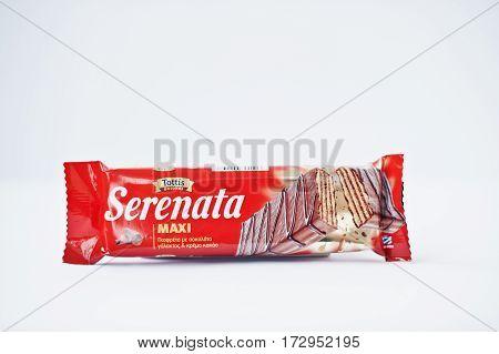 Athens, Greece - February 22, 2017: Chocolate Wafers Serenata Maxi Tottis.