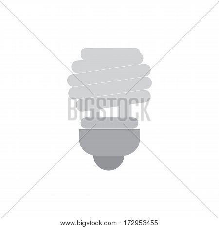 Save bulb grey icon with energy saving