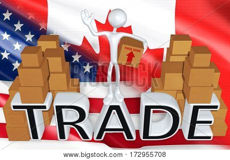 Trade Law Legal Concept With The Original 3D Character Illustration