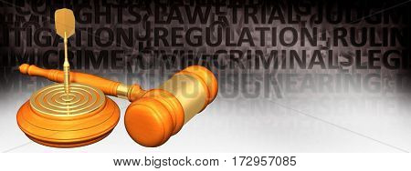 Target Legal Gavel Concept 3D Illustration