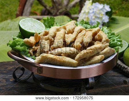 Fried fish bait