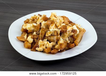 Poutine quebec meal with french fries gravy and cheese curds